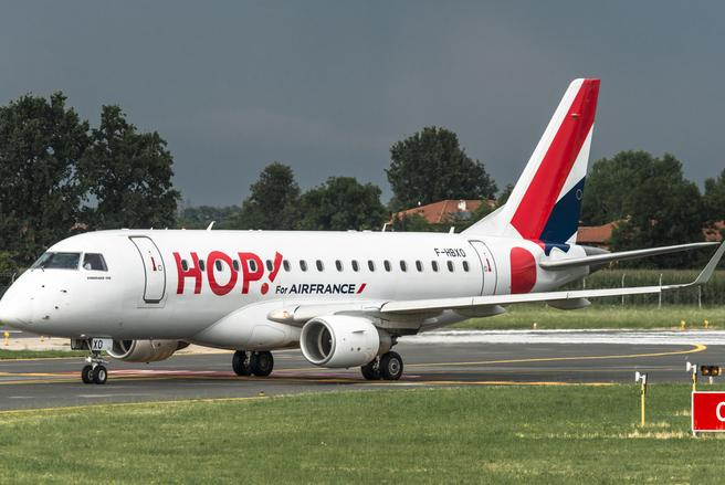 La compagnie aérienne HOP! propose un tarif unique pour des voyages cet hiver. © Shutterstock