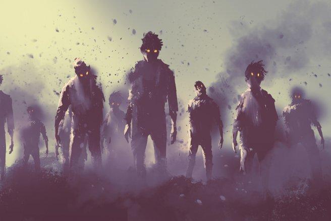 Une attaque de zombie a été annoncée sur une radio locale américaine. © Shutterstock