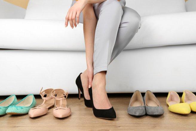 Porter des chaussures sans de mariage talons ou bas talons