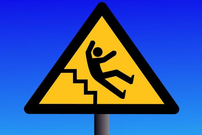 En 2012, 9 600 décès ont été imputables à une chute. © Shutterstock