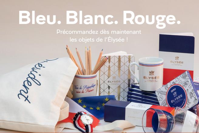 56 produits dérivés ÉLYSÉE sont proposés sur la nouvelle boutique en ligne de l'Élysée. © Capture d'écran boutique.elysee.fr