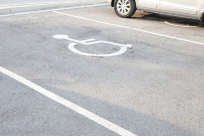 Stationnement pour handicapée